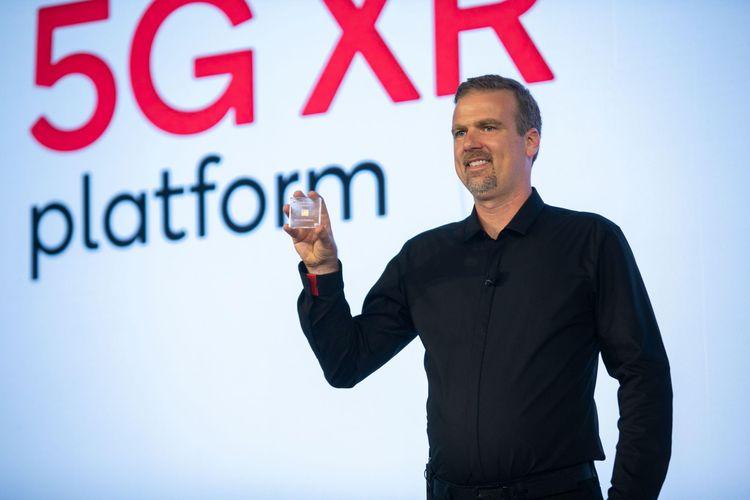 Hugo Swart, VP and Head of XR, Qualcomm Technologies, Inc. mengumumkan Qualcomm Snapdragon XR2 Platform di gelaran Snapdragon Tech Summit di Maui, Hawaii, AS, Kamis (5/12/2019).