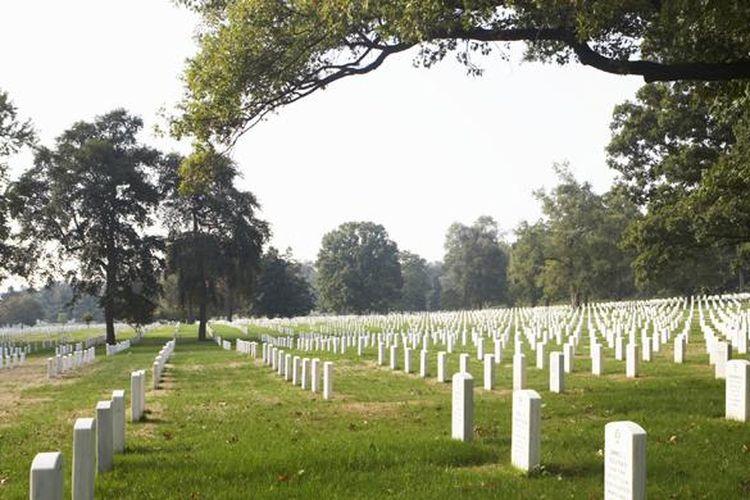 Ilustrasi pemakaman modern.