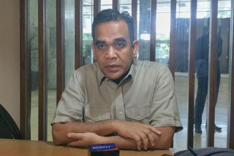 Wakil Ketua Badan Pemenangan Nasional (BPN) Ahmad Muzani di Kompleks Parlemen, Senayan, Jakarta, Jumat (22/2/2019).
