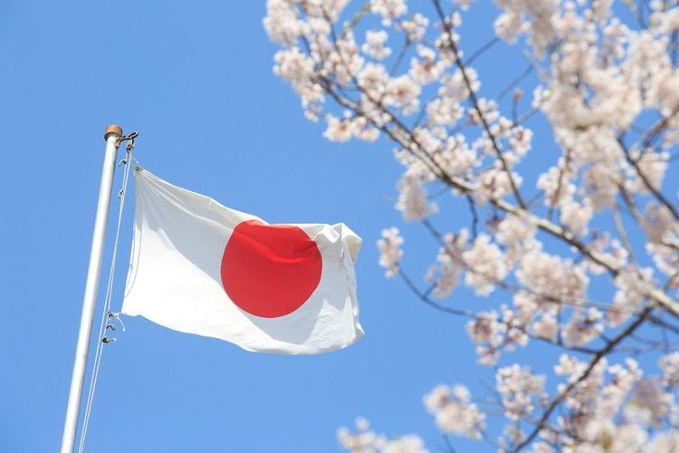 Bendera Jepang. (Shutterstock)
