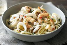 Resep Spaghetti Baby Squid Chili, Hidangan Buka Puasa ala Hotel Mewah