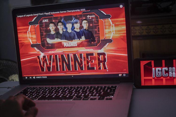 Magnus, tim e-sports yang berhasil meraih juara dalam kategori game Mobile Legends