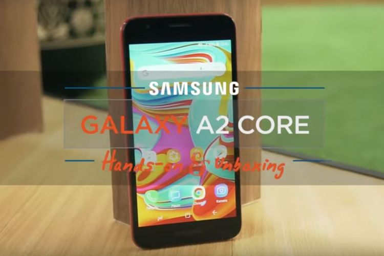 Galaxy A2 Core, ponsel Android Go Samsung.