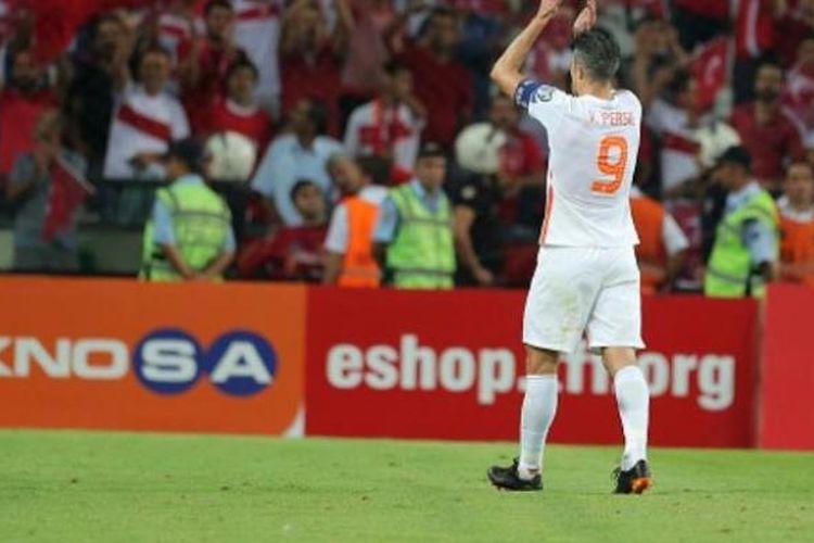 Striker tim nasional Belanda, Robin van Persie.