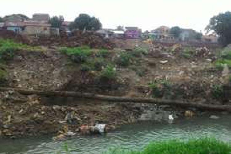Kondisi di lokasi proyek pembangunan waduk Rambutan 1