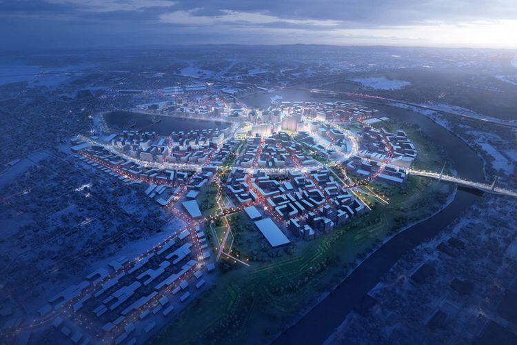 Daerah yang disebut Rublyovo-Arkhangelskoye ini digadang-gadang akan menjadi smart city atau kota pintar yang berkelanjutan.