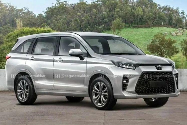 Gambar render calon Toyota Avanza model baru.