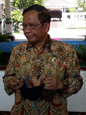 Mahfud MD saat ditemui di Keraton Yogyakarta