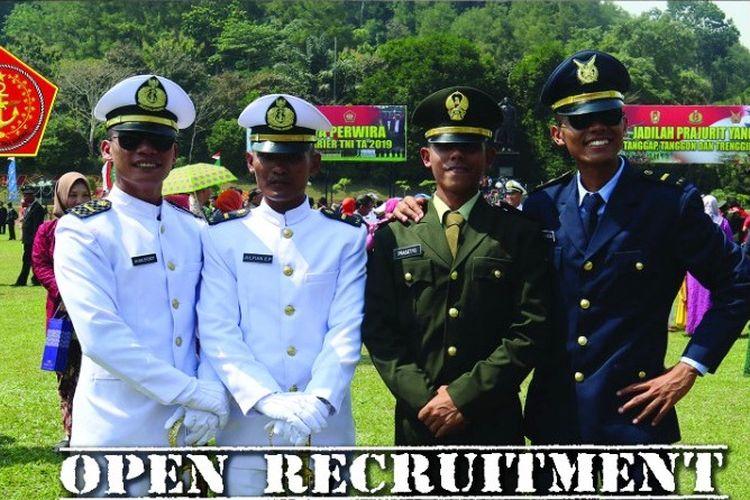 Tangkapan layar laman resmi Rekrutmen TNI.