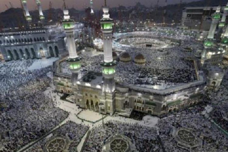 Jutaan jemaah haji di Masjidil Haram, Mekkah, Arab Saudi.