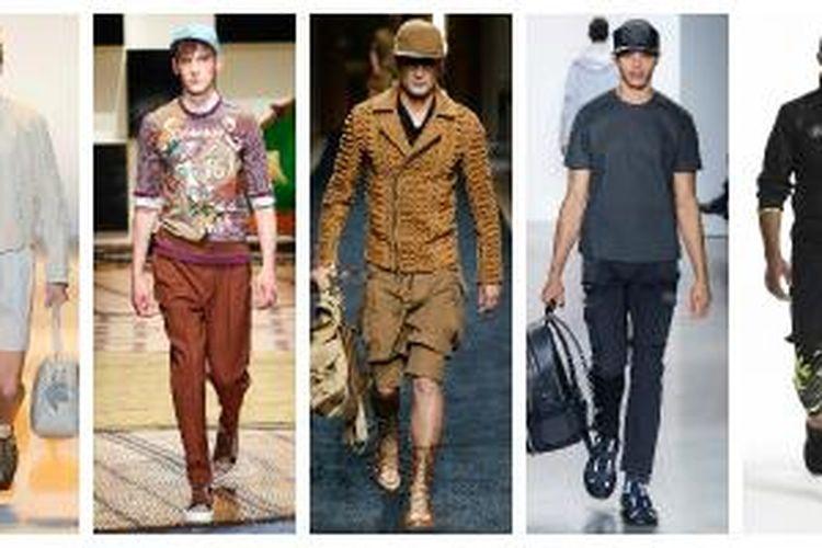 Topi penunjang gaya pria terkini dari koleksi Versace, Salvatore Ferragamo, Balmain, Calvin Klein Collection, Polo Ralph Lauren