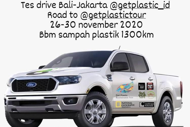 Get Plastic lakukan perjalanan Bali Jakarta Pakai Bahan Bakar Sampah Plastik