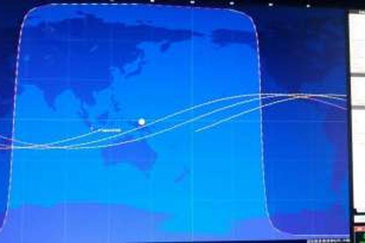 Lintasan Falcon 9 pada Senin (26/9/2016)