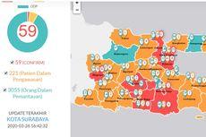 UPDATE: 59 Pasien Positif Covid-19 di Jatim, Gresik dan Kabupaten Kediri Memerah, 4 Daerah Masih Hijau