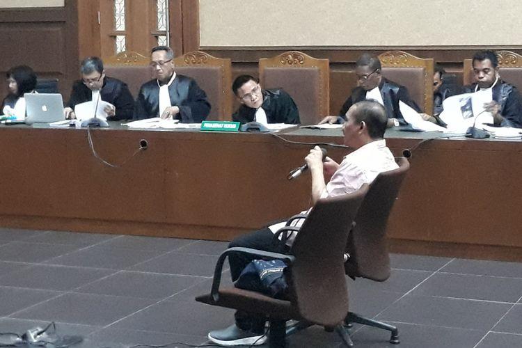 Direktur Utama PT Citra Gading Asritama Ichsan Suaidi bersaksi di Pengadilan Tipikor Jakarta, Selasa (3/4/2018).