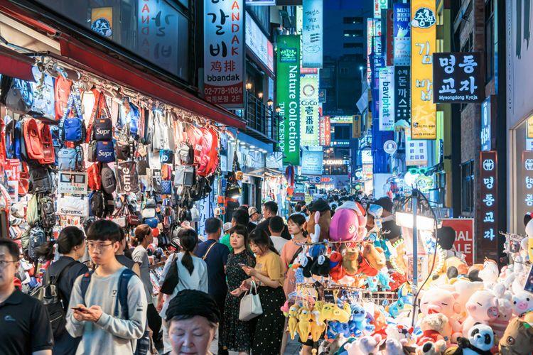 Ilustrasi Myeong-dong