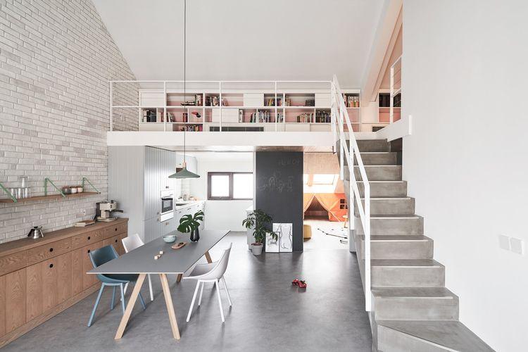 Pemanfaatan konsep ruang terbuka pada desain loft minimalis