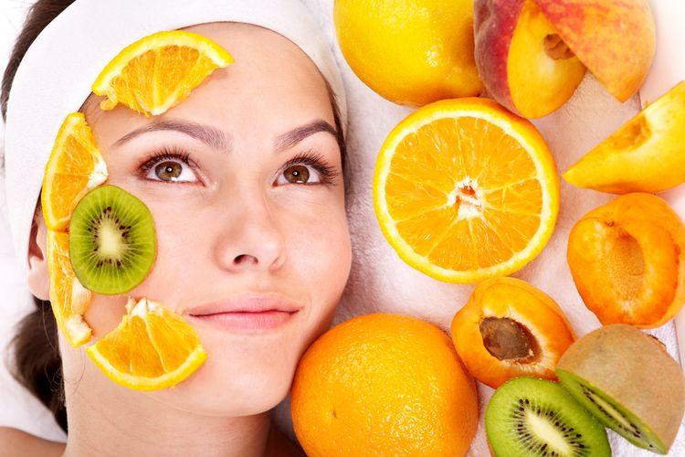 Ilustrasi buah-buahan untuk kulit