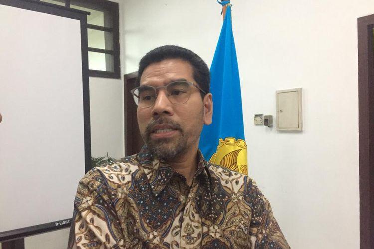 Komisioner Komnas HAM. Amiruddin, dalam konferensi persnya di kantor Komnas HAM, Jakarta Pusat, Selasa (16/7/2019).