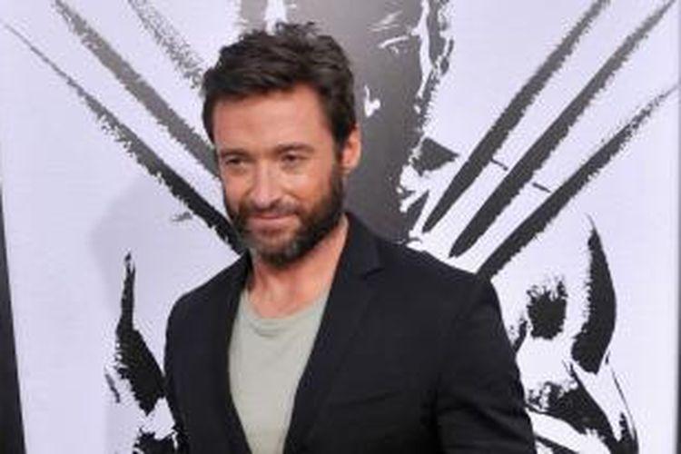 Aktor Hugh Jackman menghadiri The Wolverine New York City Fan Event di AMC Empire, New York City, AS, 23 Juli 2013 waktu setempat.