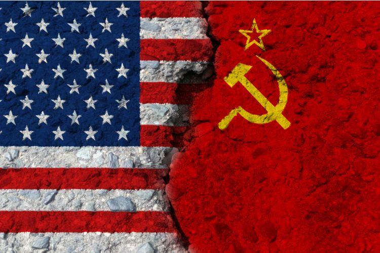 Ilustrasi AS vs. Rusia.