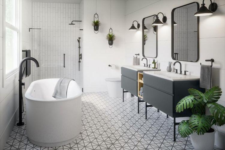 Beberapa orang mengatakan munculnya hitam sebagai warna pilihan untuk kamar mandi adalah hasil dari desain populer yang terlihat di kantor komersial, ruang industri yang direnovasi, hotel, hingga dekorasi di sebagian besar restoran kafe saat ini.