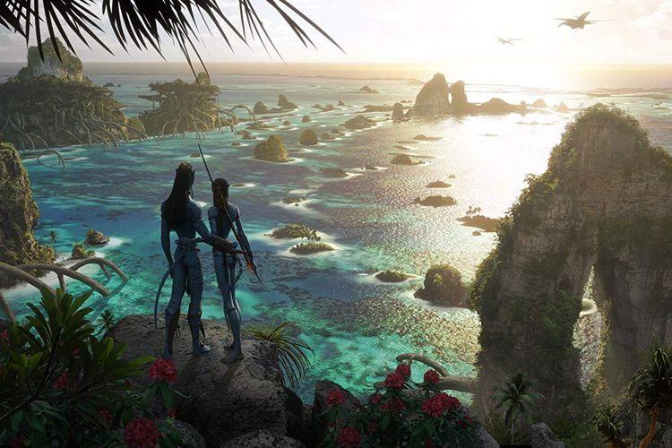 Konsep planet Pandora dalam film Avatar 2 yang akan tayang Desember 2021.