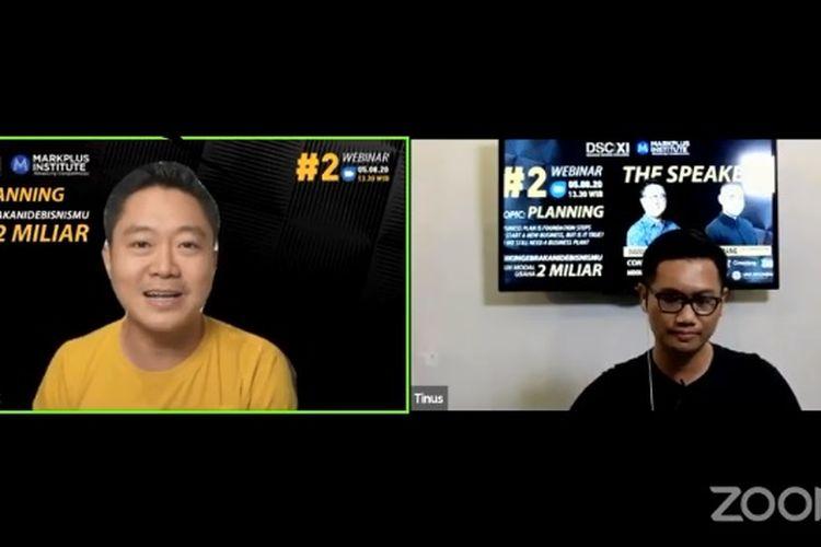 "pendiri penyedia jasa fotografi perjalanan Sweet Escape, David Soong dalam acara Webinar     ""Business Plan: Is It Still Relevant Today?"" yang digelar oleh Diplomat Success Challenge (DSC)."