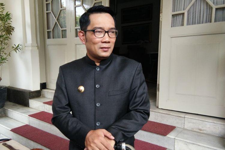 Wali Kota Bandung Ridwan Kamil saat ditemui wartawan di Pendopo Kota Bandung, Jalan Dalemkaum, Senin (2/7/2018)