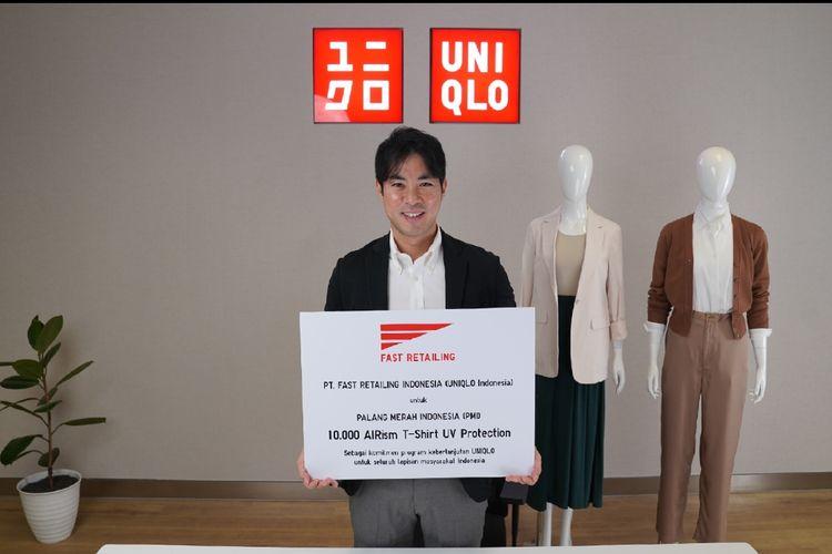 UNIQLO mendonasikan 10.000 produk AIRism T-Shirt UV Protection lengan panjang kepada Palang Merah Indonesia (PMI).