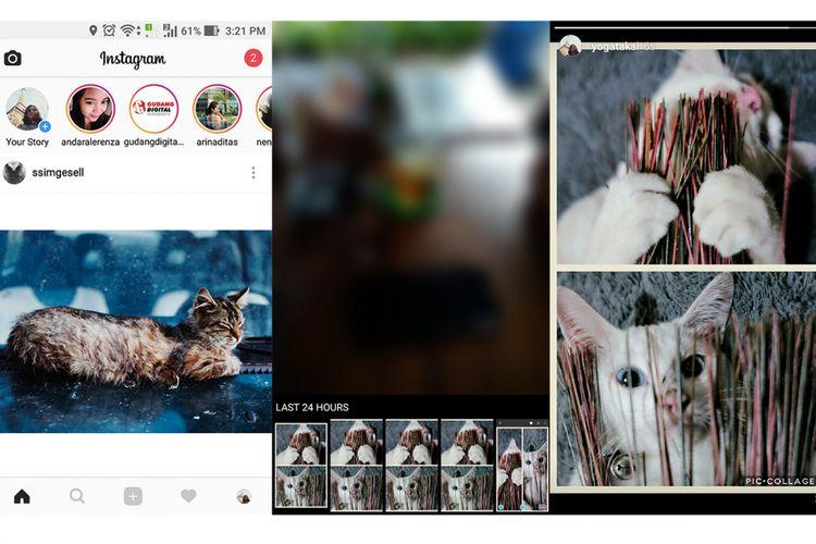 Cara Posting Kolase Foto Di Instagram Stories Halaman All Kompas Com