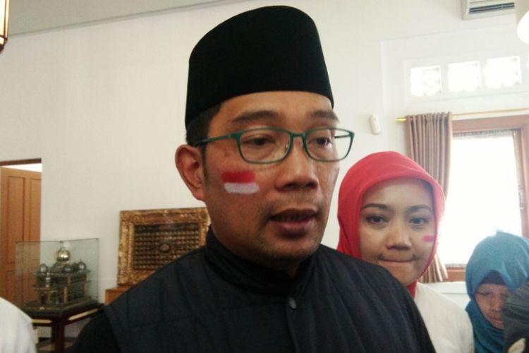 Wali Kota Bandung Ridwan Kamil saat ditemui di Pendopo Kota Bandung, Jalan Dalemkaum, Minggu (12/8/2018).