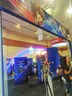 Booth Yu-Gi-Oh! di ajang ICC 2019 di Jakarta Convention Center, Jakarta, Sabtu (12/10/2019).