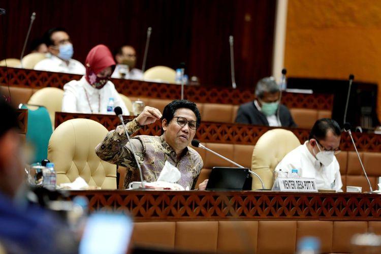 Mendes PDTT Abdul Halim Iskandar, dalam Raker Komisi V DPR RI tentang Evaluasi Pelaksanaan Anggaran Pendapatan dan Belanja Negara (APBN) Tahun Anggaran 2020 Kemendes PDTT serta Penyampaian Laporan Hasil Kunjungan Kerja Reses dan Spesifik Komisi V DPR RI, di Gedung DPR, Jakarta, Rabu (18/11/2020).