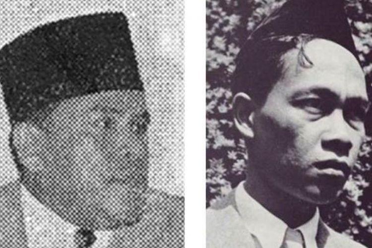 Abdul Malik Karim Amrullah/Hamka (kiri) dan Pramoedya Ananta Toer (kanan) saat muda. Keduanya dikenal sebagai tokoh sastra Indonesia yang memiliki paham berseberangan.