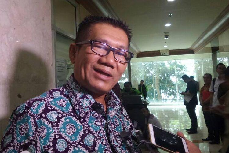 Ketua Pansus Hak Angket Komisi Pemberantasan Korupsi (KPK) Agun Gunandjar Sudarsa di Kompleks Parlemen, Senayan, Jakarta, Kamis (8/6/2017).