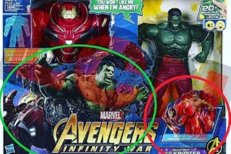Figur aksi Hulkbuster dan Hulk