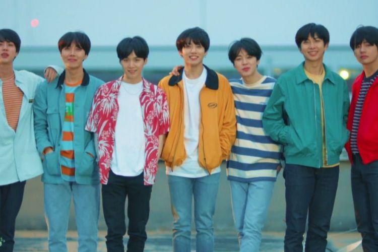 Penampilan boyband K-pop BTS dalam video Euphoria: Theme of Love Yourself Wonder.