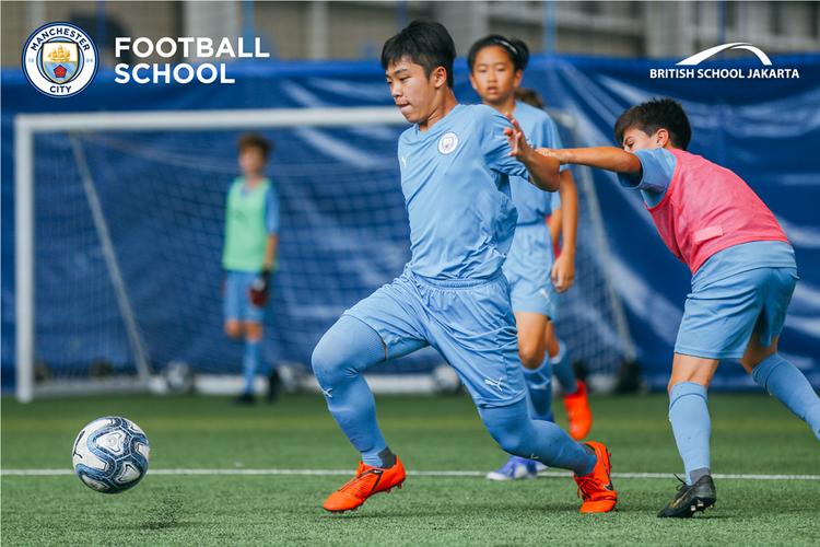 British School Jakarta jalin kerja sama dengan Manchester City Football Club.