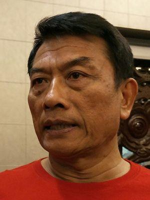 Kepala Staf Presiden Moeldoko ketika ditemui di Kantor Staf Presiden, Jakarta, Jumat (11/5/2018).