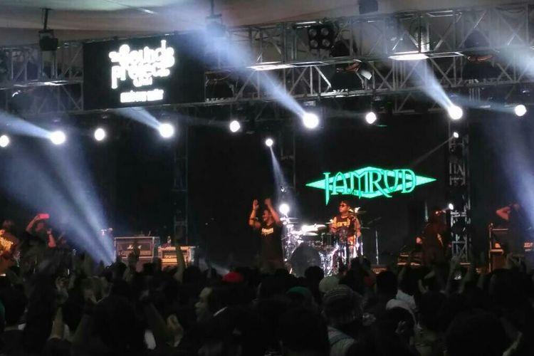 Grup musik Jamrud tampil di The Sounds Projects di Ballroom Kuningan City, Jakarta Selatan, Sabtu (23/3/2019).