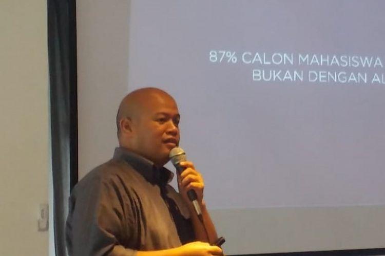 Ketua Umum Asosiasi E-Commerce Indonesia (Idea) Ignatius Untung saat jumpa pers Idea Works, Kamis (8/11/2018) di Jakarta.