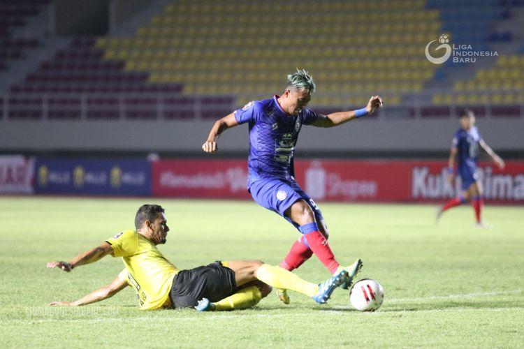 Duel Barito Putera vs Arema FC pada laga kedua Grup A Piala Menpora 2021 di Stadion Manahan, Solo, Kamis (25/3/2021) sore WIB.