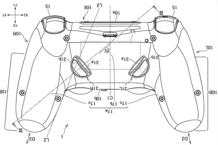 Gambar controller baru Sony yang dipatenkan oleh WIPO.