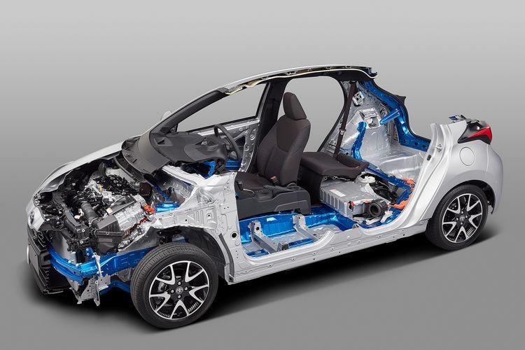 Toyota Yaris generasi keempat menggunakan platform TNGA-B yang lebih kompak