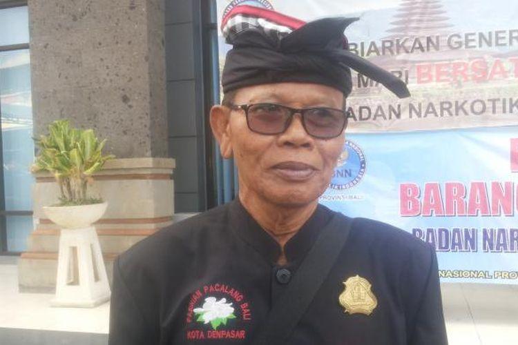 Manggala Agung Pasikiam (ketua Forum) Pecalang Bali, I Made Mudra.