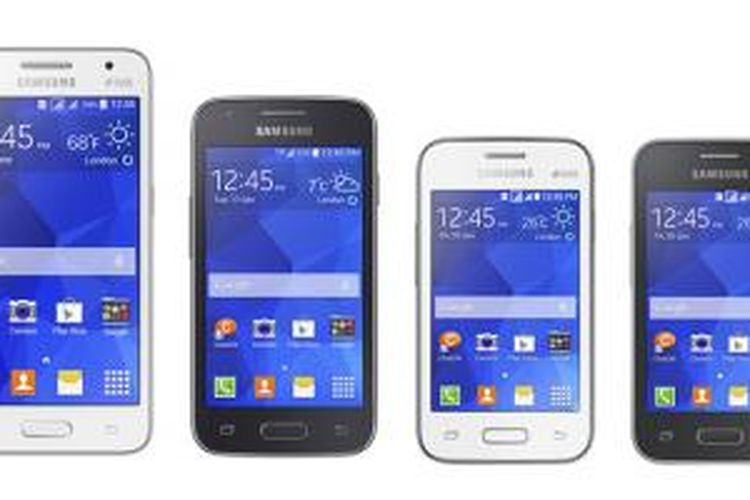 Dari kiri ke kanan, Samsung Galaxy Core II, Ace 4, Young 2, dan Star 2