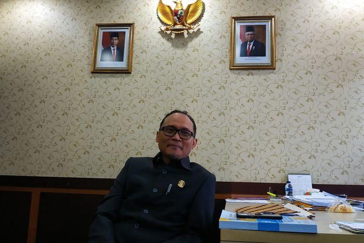 Ketua DPRD Kota Bekasi Chairoman Juwono Putro di kantornya, Rabu (27/11/2019).