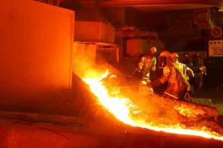 Pabrik pengolahan feronikel PT Antam (Persero) Tbk di Sulawesi Tenggara