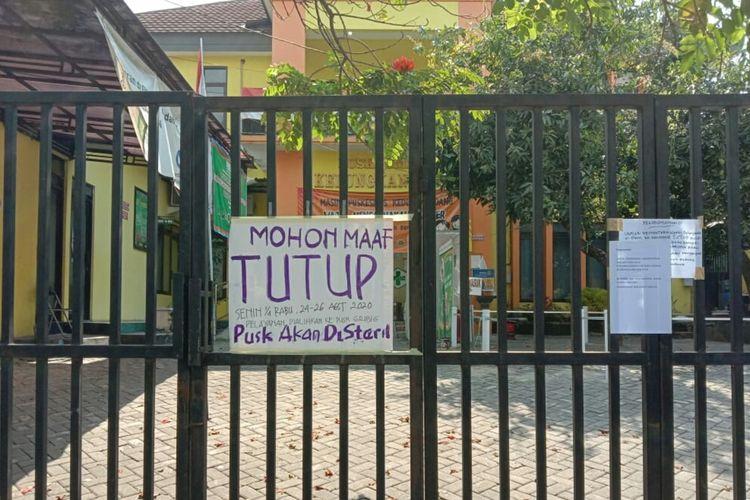 Puskesmas Kedung Kandang, Kota Malang ditutup akibat Covid-19, Senin (24/8/2020).